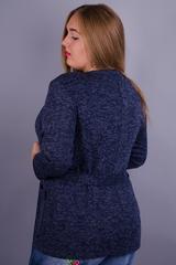 Хит. Модный женский кардиган большие размеры. Синий.