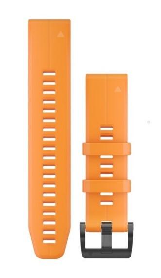 Силиконовый ремешок Garmin QuickFit 22 мм оранжевый