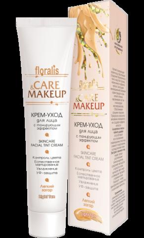 Floralis Care&Makeup Крем-уход для лица с тонирующим эффектом Легкий загар 40г