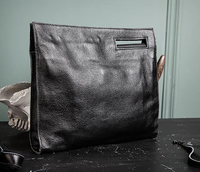 BAG494-1 Мужская сумка папка из мягкой натуральной кожи фото 07