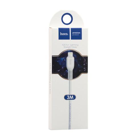 Кабель для IPhone (Lightning) Hoco 3м белый