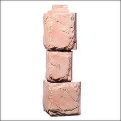 Наружный угол для фасадных панелей FineBer Камень крупный Терракотовый