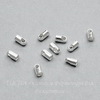 Концевик для шнура 1,5 мм, 4х2 мм (цвет - серебро), 10 штук