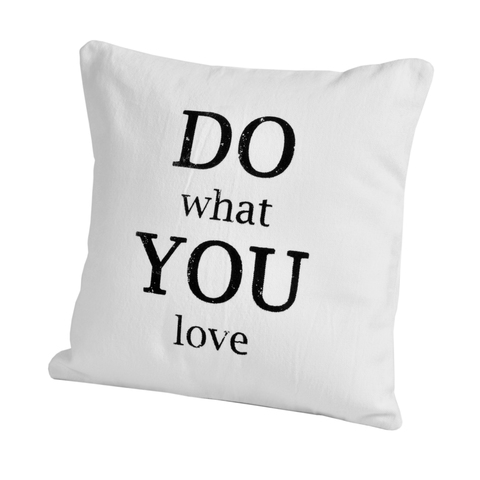 Элитная подушка декоративная Script Do Love от Casual Avenue