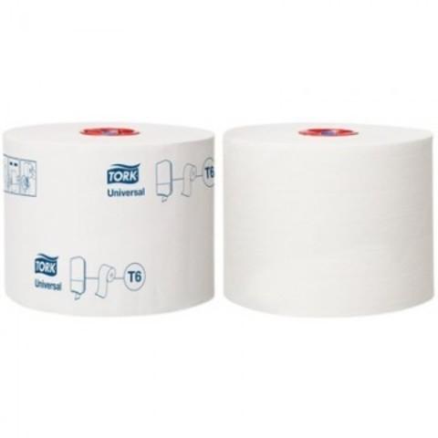 Бумага туалетная д/дисп Tork Mid-size Т6 Universal 1сл бел135м 27рул 127540