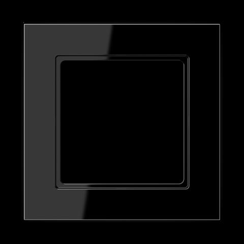 Рамка на 1 пост. Цвет Чёрный глянцевый. JUNG A CREATION. AC581SW