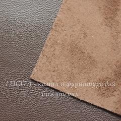 Кожа натуральная, темно-коричневая, лист 21х15 см