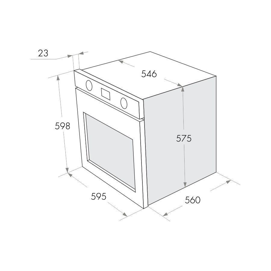 Электрический независимый духовой шкаф Maunfeld MEOFE.676RILB2.TMS