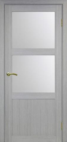 Дверь Optima Porte Турин 530.221, стекло матовое, цвет дуб серый, остекленная