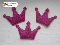 Мягкие декор корона малиновая