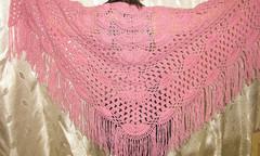 Шаль дымчато-розовая