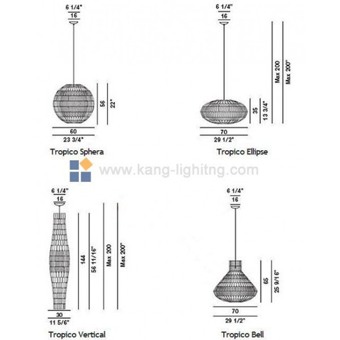 replica   Tropico Sphera pendant