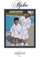 НАБОР для мальчика: Халат детский с тапочками  ALPHA - АЛЬФА / Maison Dor (Турция) .