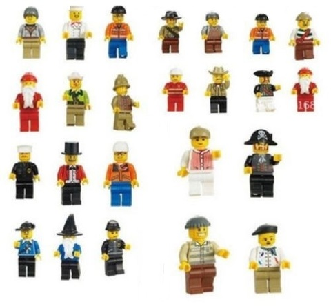 Minifigures Random Men People Blocks Building