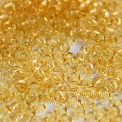 Бисер 8/0 Preciosa прозрачный, золотистый