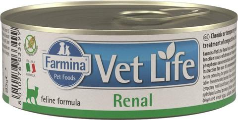 Беззерновые консервы Farmina Vet Life Natural Diet Cat Renal