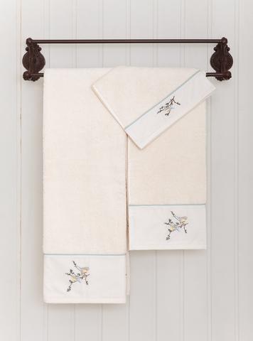 Полотенце 50x100 Bovi Spring с вышивкой экрю