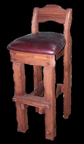 стул барный Добряк с кожей
