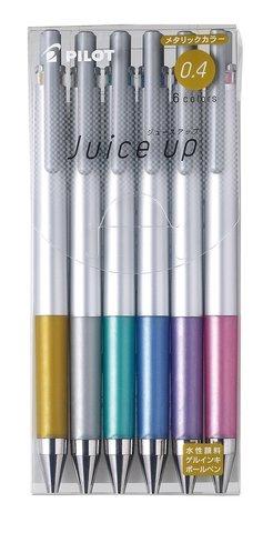 Гелевые ручки Pilot Juice Up 0,4 мм (металлические оттенки, набор 6 шт.)