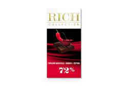 Горький шоколад Rich с вишней и кайенским перцем, 70г