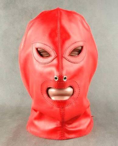 БДСМ Шлем красный