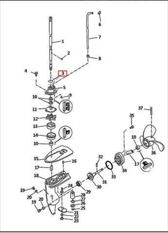 Улотнительное кольцо  для лодочного мотора T2,5 SEA-PRO (8-3)