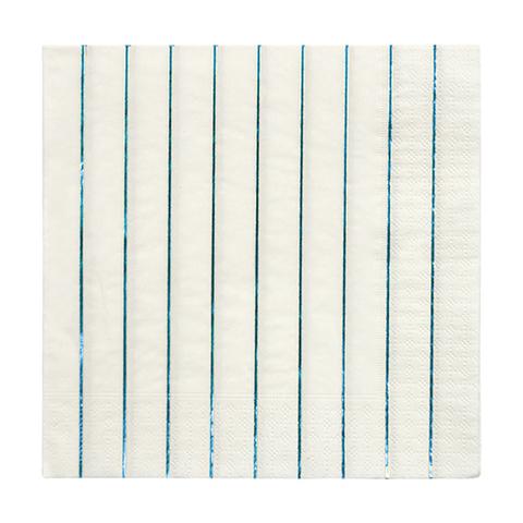 Большие синии голографические полосатые салфетки