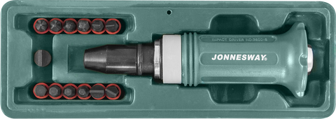 AG010138 Ударная отвертка SL 5,6,8,10,12мм PH# 1,2,3,4 Hex 4,5,6,8,  14 предметов