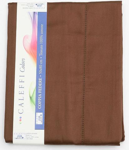 Наволочки 2шт 70x70 Caleffi Raso Tinta Unito темно-коричневые