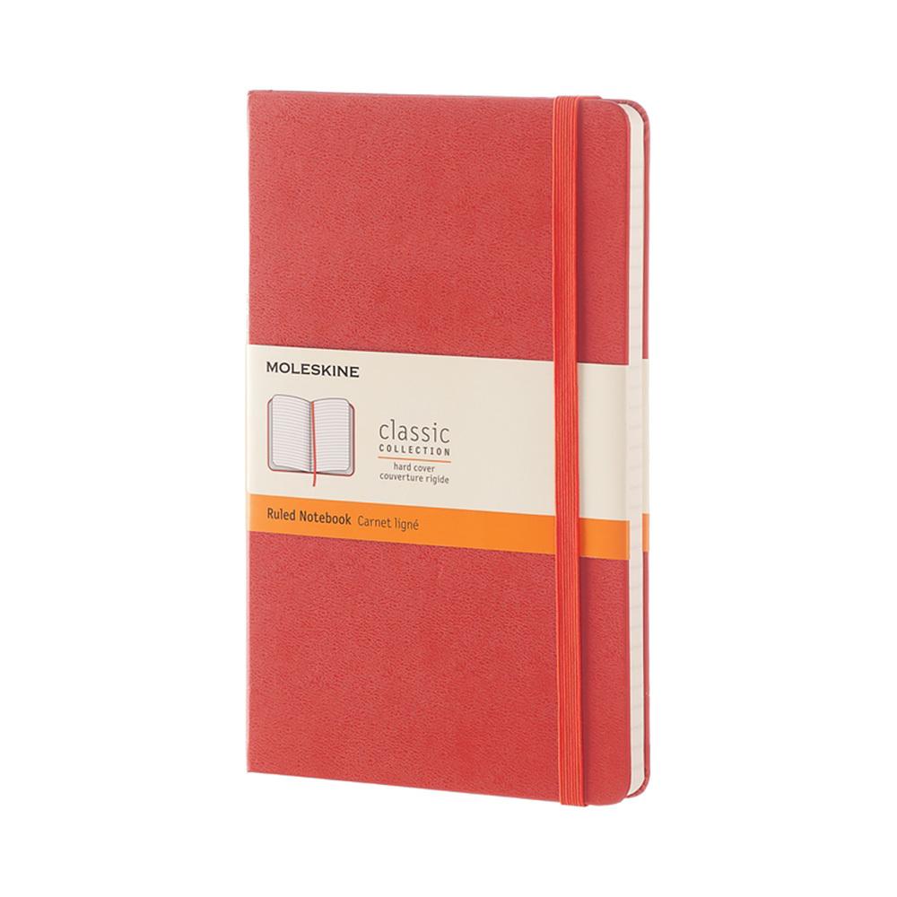 Блокнот Moleskine Classic Large, цвет оранжевый, в линейку