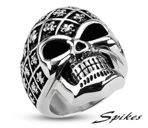 Мужской перстень «Череп» («Spikes»)