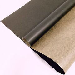 Крафт-бумага упаковочная вержированная однотонная Черная / рулон 70 см * 10 м, 40 гр/м.кв