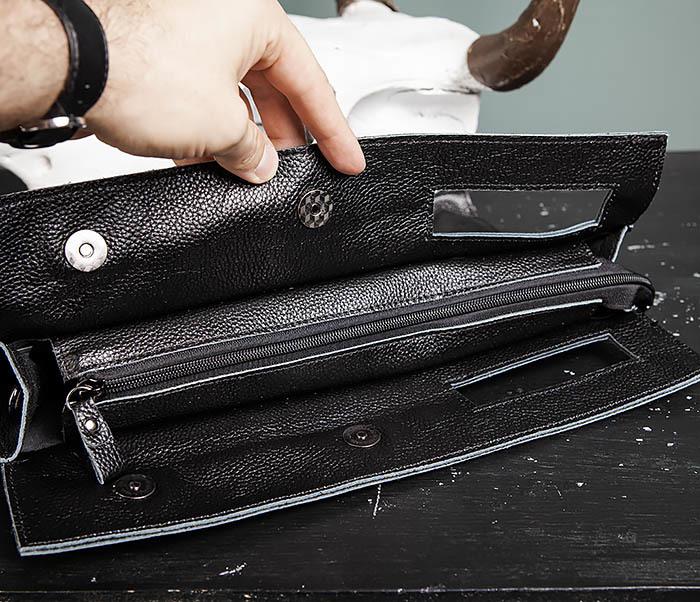 BAG494-1 Мужская сумка папка из мягкой натуральной кожи фото 11