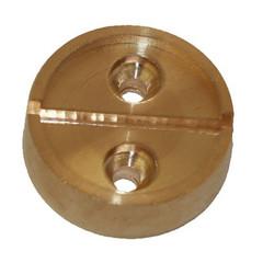 Плашка металл. на 1 печать, диаметр 29 мм, 2шт/уп, латунь