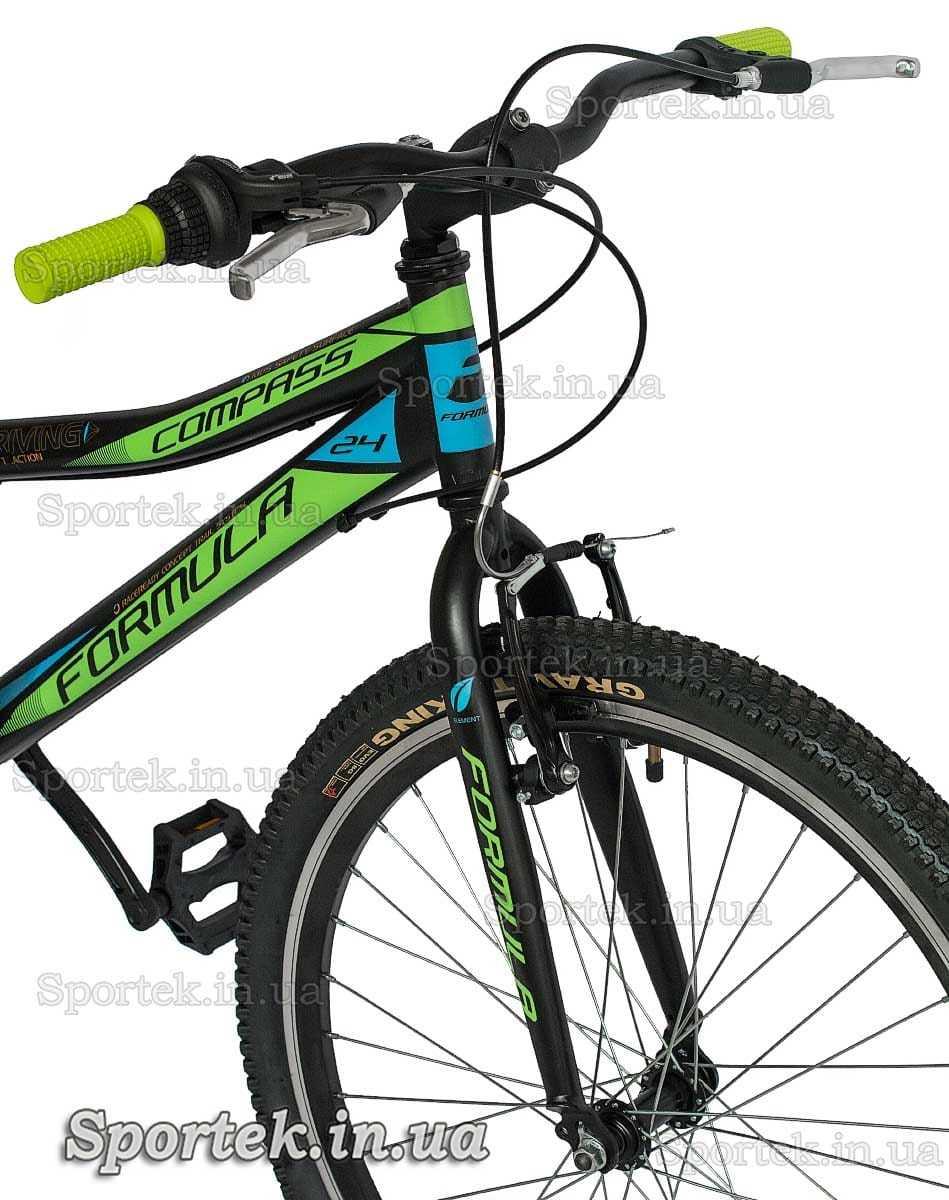 Руль и вилка горного универсального подросткового велосипеда Формула Компас 2016