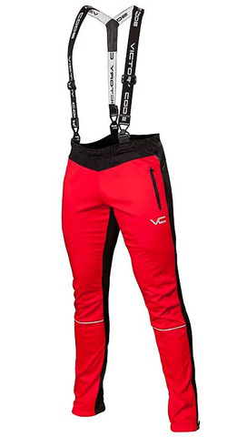 Лыжные разминочные брюки 905 Victory Code Dynamic Red с лямками 2019