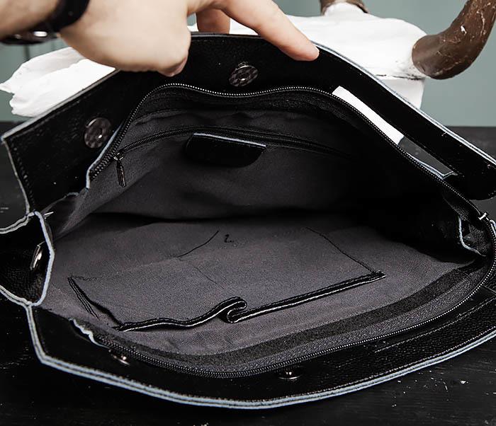 BAG494-1 Мужская сумка папка из мягкой натуральной кожи фото 12