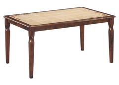 Стол с плиткой Эмир (СТ 3760Р LEG D) Античный белый/Тёмный дуб