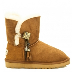 UGG Bailey Button Lilou Chestnut