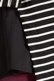 Блузка 09795 черно-белая полоска