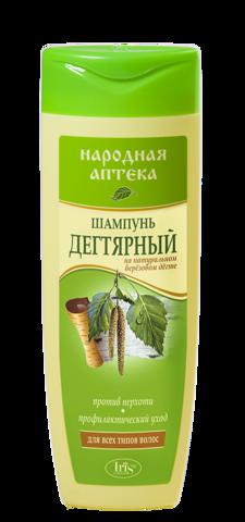 Iris Народная аптека Шампунь Дегтярный для всех типов волос 400мл