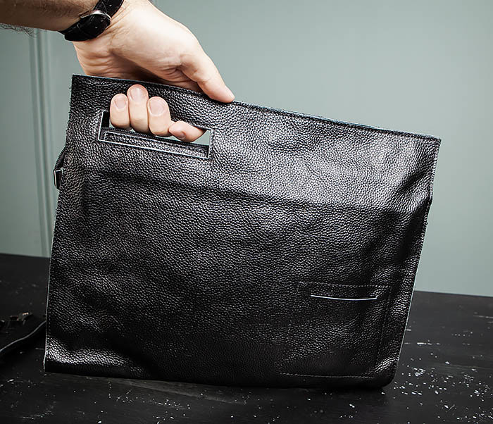 BAG494-1 Мужская сумка папка из мягкой натуральной кожи фото 13