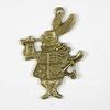 """Подвеска """"Белый Кролик"""" 33х23 мм (цвет - античная бронза)"""