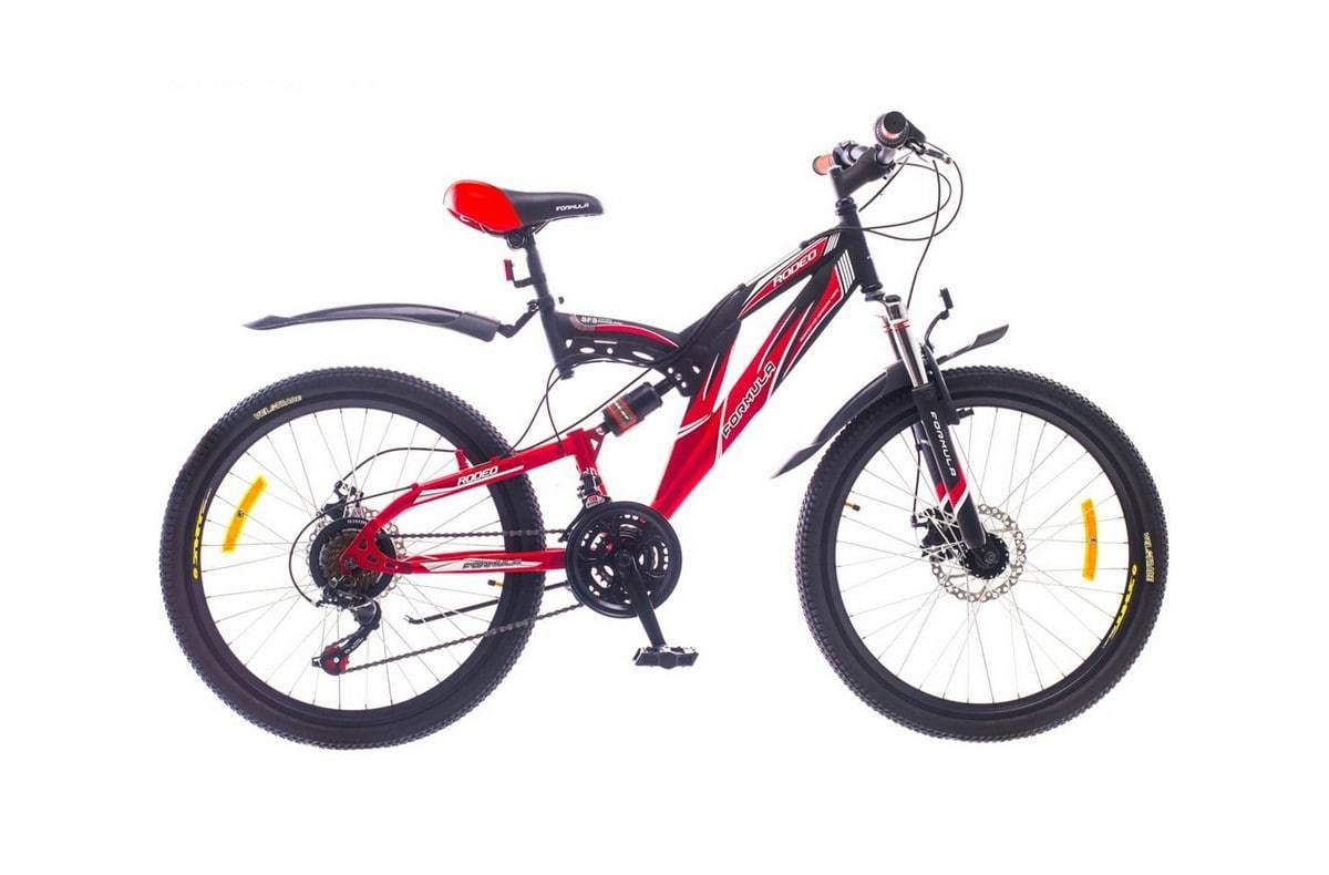 Горный универсальный велосипед Formula Rodeo DD 2015 черно-красный