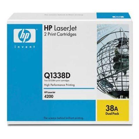 Картридж HP Q1338AD - двойная упаковка картриджей Q1338A для принтера Hewlett Packard LaserJet 4200. (Ресурс 2х12000 стр.)