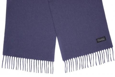 Шарф кашемировый синий 00400