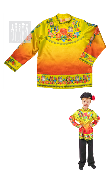 Городецкая роспись рубаха Осень