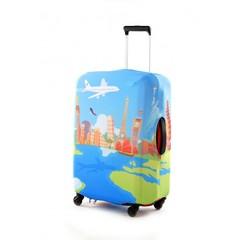 чехол для чемодана экстрапрочный «вокруг света»