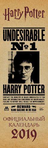 Гарри Поттер. Календарь настенный на 2019 год (160х490 мм)