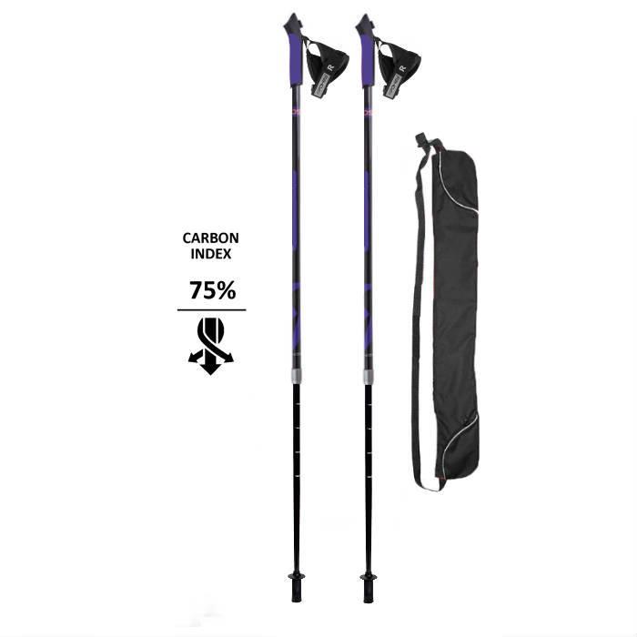 Скандинавские палки Nordic E-Sport Carbon 75% телескопические